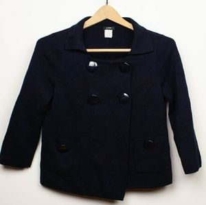 J.Crew Navy Blue Double Breasted Blazer size S